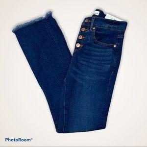 Loft | Flare Crop Jeans | Size 00/24 | Dark Wash |